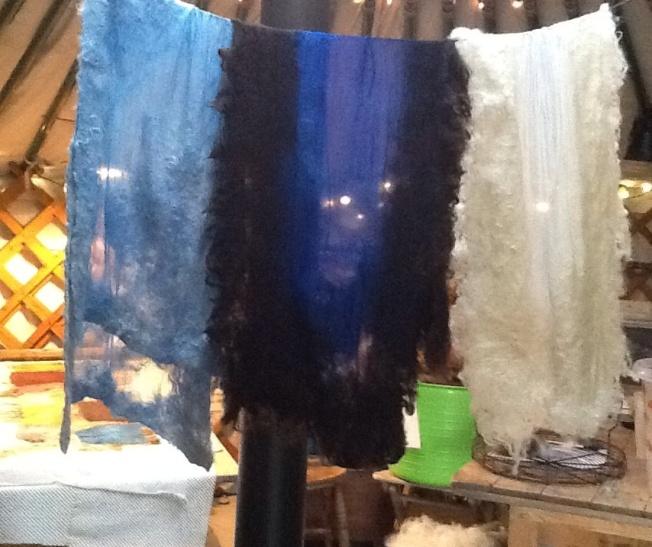 Drying scarves in Kurt